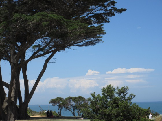 Our first view of the ocean at Bells Beach, Torquay